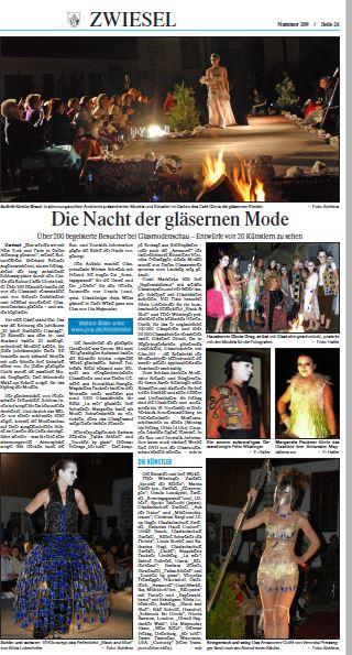 Glasmodenschau |Zwiesel 07.09.2012