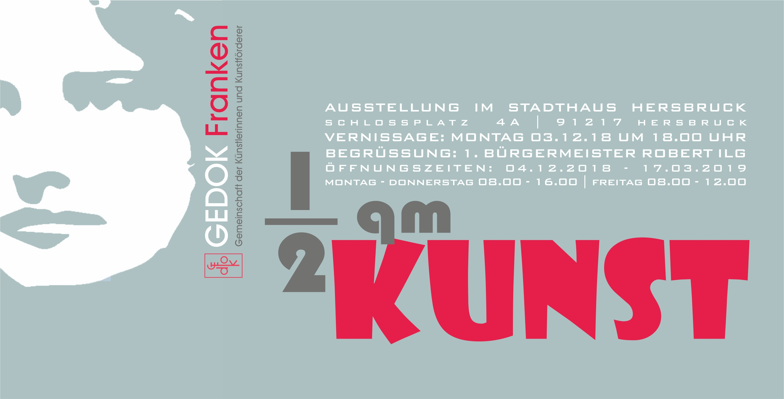 1/2 qm Kunst im Stadthaus Hersbruck